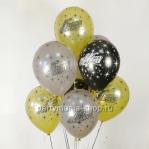 «Большого счастья», шары с гелием,  металлик