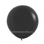 Большой черный шар пастель 60 см с гелием