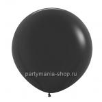 Большой черный шар пастель 90 см с гелием