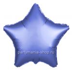 Фольгированная звезда синяя сатин 46 см