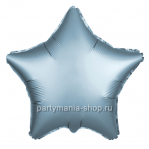 Фольгированная звезда сталь сатин с гелием 46 см