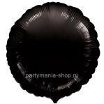 Фольгированный круг черный с гелием 46 см