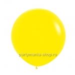 Большой желтый шар пастель 60 см с гелием