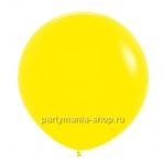 Большой желтый шар пастель 90 см с гелием