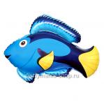 Голубая рыба фигурный шар с гелием