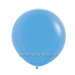Большой голубой шар пастель 60 см с гелием