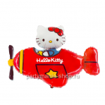 Hello Kitty в самолете, фигурный шар