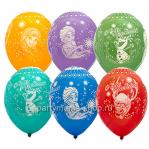 «Холодное сердце», С днём рождения, шары с круговой печатью