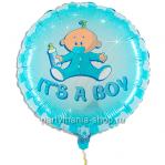 It's a BOY, фольгированный шар