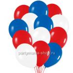 «Триколор» микс из 30-ти белых, синих и красных шаров