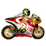 «Мотобайк»  фигурный шар, оранжевый