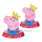 Набор фигурных колпаков «Пеппа-принцесса» 6 шт.