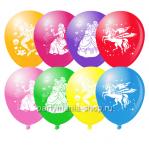 «Принцессы» шары с гелием ассорти 12''