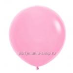 Большой розовый шар пастель 90 см с гелием