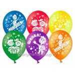«Школа» шары 28 см ассорти