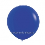 Большой синий шар пастель 60 см с гелием