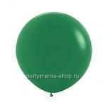 Большой темно-зеленый шар пастель 60 см с гелием