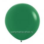 Большой темно-зеленый шар пастель 90 см с гелием