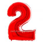 Цифра 2 красная с гелием