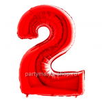 Цифра 2 красная шар с гелием