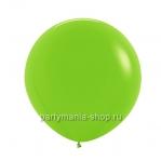 Большой зеленый (лайм) шар пастель 60 см с гелием