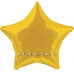 Фольгированная звезда золотая с гелием 72 см