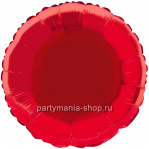 Фольгированный круг красный с гелием 72 см