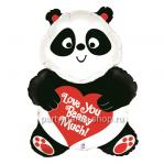 Фольгированный шар «Панда с сердечком»