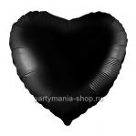 Фольгированное сердце черное с гелием 46 см