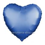 Фольгированное сердце лазурь сатин с гелием 46 см