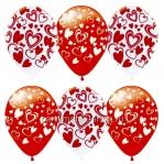 Гелиевые шары с сердцами