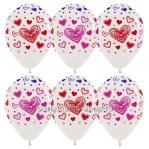 Шары  кристалл с разноцветными сердцами