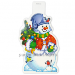 Баннер Снеговик с ёлочкой