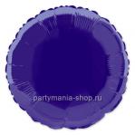 Фольгированный круг фиолетовый 46 см