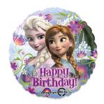 «Холодное сердце Happy Birthday» шар круг