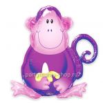 «Обезьяна» Фольгированный шар с гелием