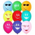 «Смайлы» шары ассорти 35 см