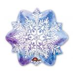 «Снежинка»  фигурный  шар голубой