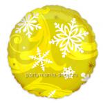 «Снежинки» круг золотой