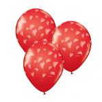 Шары с гелием «Летящие сердца» 30 см