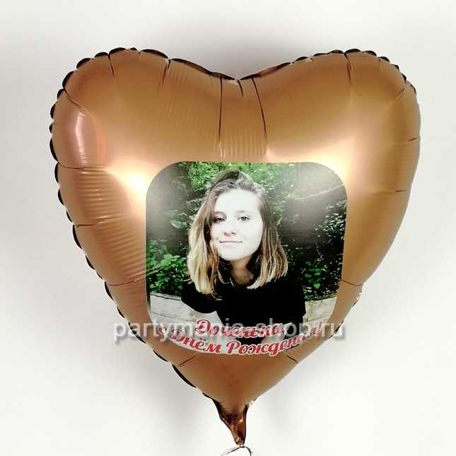 Фото на фольгированном сердце